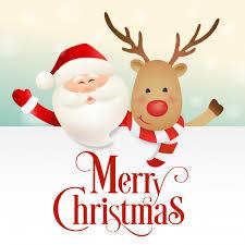 imagenes animadas de renos de navidad diseño de navidad con santa claus y personaje de dibujos animados de