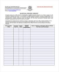 sample raffle sheet use this excel document to keep the guards