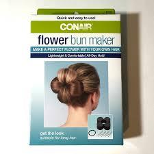 bun maker conair flower bun maker kit ea