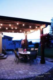 Nautical Patio Lights Adding String Patio Lights To The Pergola The Best Prices I Found