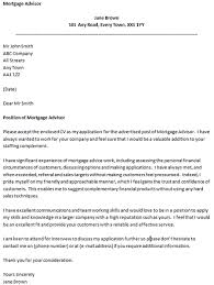 cover letter for a mortgage advisor icover org uk