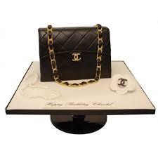 chanel black handbag birthday cake