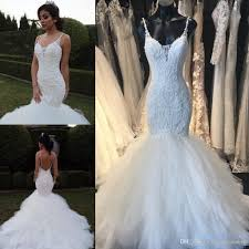 2017 mermaid wedding dresses backless lace applique beads