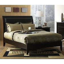 Wood Leather Headboard by Best 25 Transitional Sleigh Beds Ideas On Pinterest