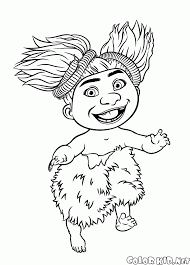 coloring page sandy croods