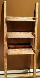 Leaning Bathroom Ladder Over Toilet by Custom Made Leaning Ladder Shelf In Dark Walnut Leaning Ladder