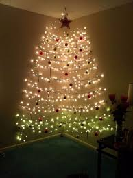 how to put christmas lights on your wall 60 wall christmas tree alternative ideas family inside with lights