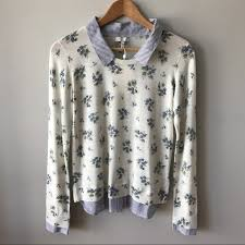 63 off joie sweaters joie rika j layered floral print sweater