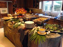 home design graceful setting buffet table ideas thanksgiving