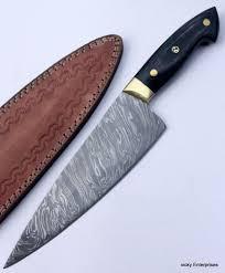 details about damascus knife custom handmade 12 00 inches pakka