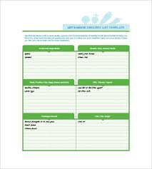 shopping list template 12 free word excel pdf format download