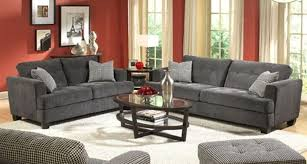 living room red wall paint grey sofas color combination modern