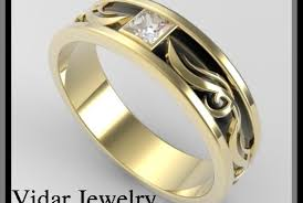unique art deco diamond wedding band flower ring design vidar