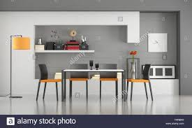Minimalist Table by Contemporary Dining Room With Minimalist Table And Chairs 3d