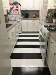 black and white stripe kitchen floor long and narrow kitchen