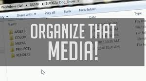 Organize Media by How To Organize Footage Best Folder System For Post Production