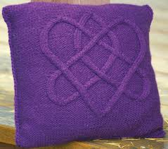 big sky knitting designs llc patterns true love knot pillow