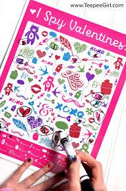 Halloween I Spy Printable Free I Spy Valentines Printable Game Teepee