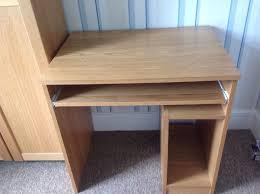 Small Corner Desk Homebase Homebase Oak Effect Office Computer Desk And Matching Cabinet