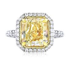 fancy yellow diamond engagement rings 5ct fancy yellow radiant cut diamond engagement ring