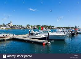 the harbour in provincetown cape cod massachusetts usa stock