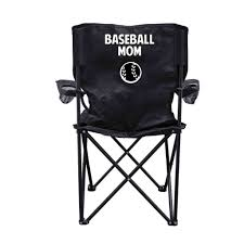 Best Folding Camp Chair Amazon Com Baseball Mom Black Folding Camping Chair With Carry
