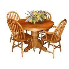 Pedestal Kitchen Table And Chairs - l j gascho furniture oak ridge 42 inch round solid oak pedestal