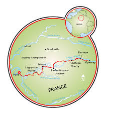 Champagne France Map by Champagne Bike And Barge Tour France Tripsite