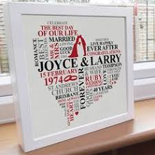 40 wedding anniversary gift framed personalized 40th anniversary gift 40th anniversary gifts