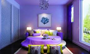 Images Of Round Bed by Purple Bedroom With Round Bed 3d House