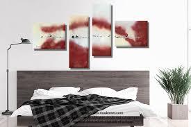 tableau de chambre tableau bordeaux gris grande décoration murale panoramique nouvelle