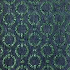 bond jacquard woven texture geometric chain link pattern