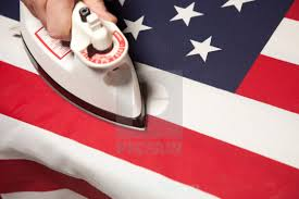 The Amarican Flag Ironing Out The Wrinkles In The American Flag Conceptual