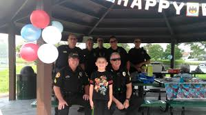 police surprise boy with autism at his birthday party after no one
