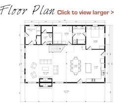 Ponderosa Floor Plan Floor Plan Pre Designed Ponderosa Country Barn Home Kit Image
