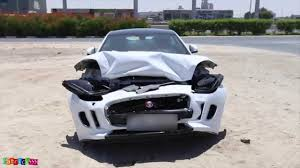 wrecked camaro check out a wrecked jaguar f type r coupe in dubai