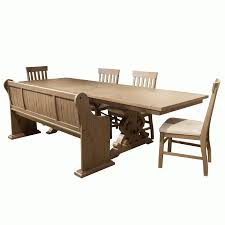 trinity 6 piece dining set table with 4 side chairs and bench