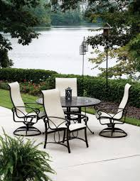 Aluminum Sling Patio Chairs Winston Madero Sling Patio Dining Set Seats Up To 6 At Winston