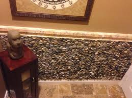 Feature Wall by Cobblestone Standing Pebble Tile Feature Wall Pebble Tile Shop