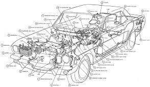 mustang car names car part diagram interior car car parts cars and