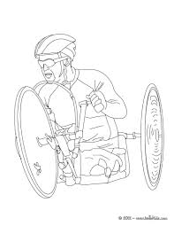 cycling paralympic race coloring pages hellokids com