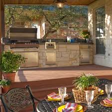outside kitchen design ideas outdoor kitchen design ideas with a multi level deck archadeck