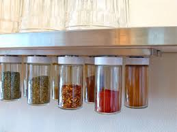 Open Shelves Under Cabinets Cabinets U0026 Storages Metal Hanging Magnetic Spices Glass Jar Rack