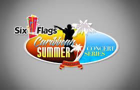 Six Flags Logo Six Flags Caribbean Summer Concert Series Logo Am Creative Group