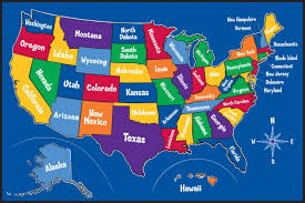 map usa all states us map showing all states road trip map of usa for preschoolers 79