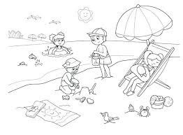 beach coloring pages preschool summer coloring sheets printable beach pages preschool free page for