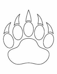 bear paw print pattern printable outline crafts