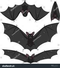 cartoon style set spooky halloween bats stock vector 153542249