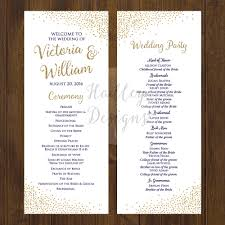 Sample Of A Wedding Program Hadley Designs Programs