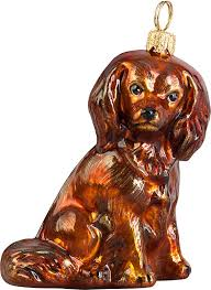 cavalier king charles spaniel ruby ornament